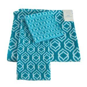Shorecrest Ripple Scuba Blue Bath Towel Set